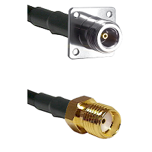N 4 Hole Female Connector On LMR-240UF UltraFlex To SMA Female Connector Cable Assembly
