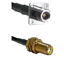 N 4 Hole Female Connector On LMR-240UF UltraFlex To SMA Female Bulkhead Connector Coaxial Cable Asse