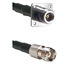 N 4 Hole Female Connector On LMR-240UF UltraFlex To TNC Female Connector Cable Assembly