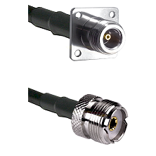 N 4 Hole Female Connector On LMR-240UF UltraFlex To UHF Female Connector Cable Assembly