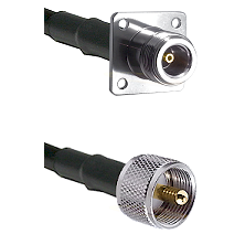 N 4 Hole Female Connector On LMR-240UF UltraFlex To UHF Male Connector Cable Assembly