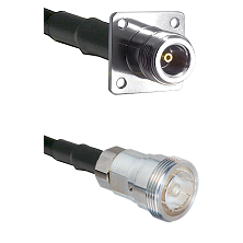 N 4 Hole Female on RG142 to 7/16 Din Female Cable Assembly