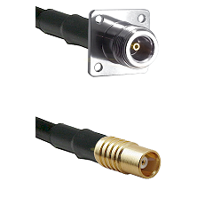 N 4 Hole Female on RG142 to MCX Female Cable Assembly