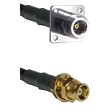 N 4 Hole Female on RG142 to MCX Female Bulkhead Cable Assembly
