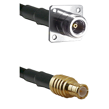 N 4 Hole Female on RG142 to MCX Male Cable Assembly