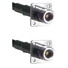 N 4 Hole Female on RG142 to N 4 Hole Female Cable Assembly
