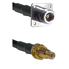 N 4 Hole Female on RG142 to SMC Male Bulkhead Cable Assembly