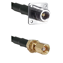 N 4 Hole Female on RG188 to SMC Female Bulkhead Cable Assembly