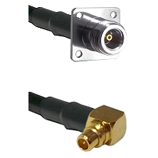 N 4 Hole Female on RG316 to MMCX Right Angle Male Cable Assembly