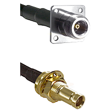 N 4 Hole Female on RG58C/U to 10/23 Female Bulkhead Cable Assembly
