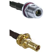 N Female Bulkhead on LMR100 to 10/23 Female Bulkhead Cable Assembly