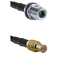 N Female Bulkhead on LMR-195-UF UltraFlex to MCX Male Cable Assembly