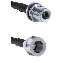 N Female Bulkhead on LMR-195-UF UltraFlex to QN Male Cable Assembly