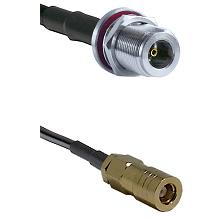 N Female Bulkhead on LMR-195-UF UltraFlex to SLB Female Cable Assembly