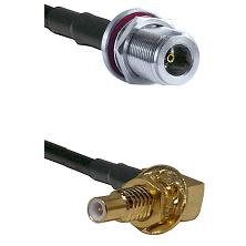 N Female Bulkhead on LMR-195-UF UltraFlex to SLB Male Bulkhead Cable Assembly