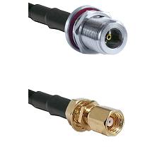 N Female Bulkhead on LMR-195-UF UltraFlex to SMC Female Bulkhead Cable Assembly