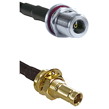 N Female Bulkhead on LMR200 UltraFlex to 10/23 Female Bulkhead Cable Assembly