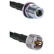 N Female Bulk Head To UHF Male Connectors LMR240 Cable Assembly