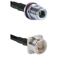 N Female Bulkhead Connector On LMR-240UF UltraFlex To 7/16 4 Hole Female Connector Coaxial Cable Ass