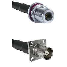 N Female Bulkhead Connector On LMR-240UF UltraFlex To C 4 Hole Female Connector Coaxial Cable Assemb