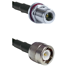 N Female Bulkhead Connector On LMR-240UF UltraFlex To C Male Connector Cable Assembly