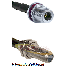 N Female Bulkhead Connector On LMR-240UF UltraFlex To F Female Bulkhead Connector Coaxial Cable Asse