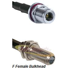 N Female Bulkhead Connector On LMR-240UF UltraFlex To F Female Bulkhead Connector Coaxial Cable Asse