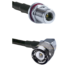 N Female Bulkhead Connector On LMR-240UF UltraFlex To C Right Angle Male Connector Coaxial Cable Ass