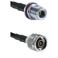 N Female Bulkhead on LMR240 Ultra Flex to N Reverse Polarity Male Cable Assembly