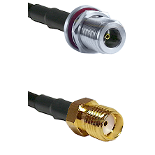 N Female Bulkhead Connector On LMR-240UF UltraFlex To SMA Reverse Thread Female Connector Coaxial Ca