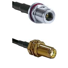 N Female Bulkhead on LMR240 Ultra Flex to SMA Female Bulkhead Cable Assembly