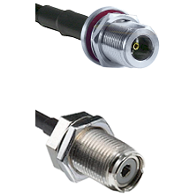 N Female Bulk Head On LMR400UF To UHF Female Bulk Head Connectors Ultra Flex Coaxial Cabl