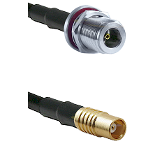 N Female Bulkhead on RG142 to MCX Female Cable Assembly