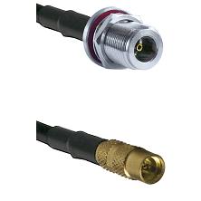 N Female Bulkhead on RG188 to MMCX Female Cable Assembly