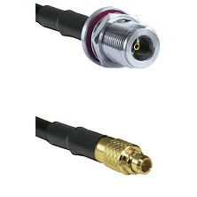 N Female Bulk Head On RG223 To MMCX Male Connectors Coaxial Cable