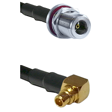 N Female Bulk Head On RG223 To Right Angle MMCX Male Connectors Coaxial Cable