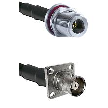 N Female Bulkhead on RG58C/U to C 4 Hole Female Cable Assembly