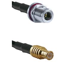 N Female Bulkhead on RG58C/U to MCX Male Cable Assembly