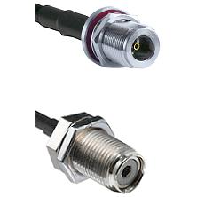 N Female Bulk Head To UHF Female Bulk Head Connectors RG58C/U Cable Assembly