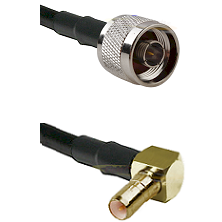 N Male on LMR100 to SSMB Right Angle Male Cable Assembly