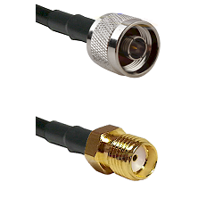 N Male on LMR-195-UF UltraFlex to SMA Reverse Thread Female Cable Assembly