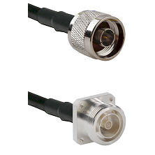 N Male Connector On LMR-240UF UltraFlex To 7/16 4 Hole Female Connector Cable Assembly