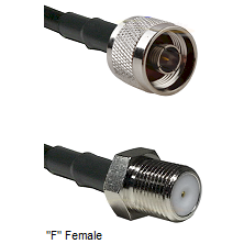 N Male Connector On LMR-240UF UltraFlex To F Female Connector Cable Assembly