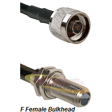 N Male Connector On LMR-240UF UltraFlex To F Female Bulkhead Connector Cable Assembly