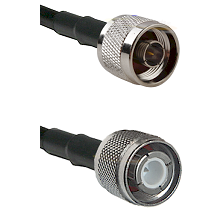 N Male Connector On LMR-240UF UltraFlex To HN Male Connector Cable Assembly
