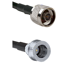 N Male Connector On LMR-240UF UltraFlex To QN Male Connector Cable Assembly