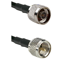 N Male on RG142 to Mini-UHF Male Cable Assembly