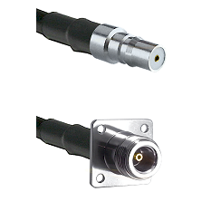 QMA Female on Belden 83242 RG142 to N 4 Hole Female Cable Assembly