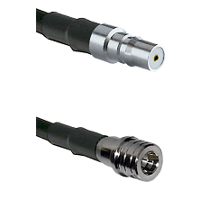 QMA Female on Belden 83242 RG142 to QMA Male Cable Assembly