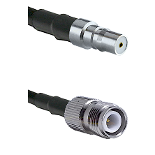 QMA Female on LMR-195-UF UltraFlex to TNC Reverse Polarity Female Cable Assembly